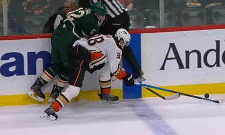 Wild's Staal Injured in Collision with Linesman