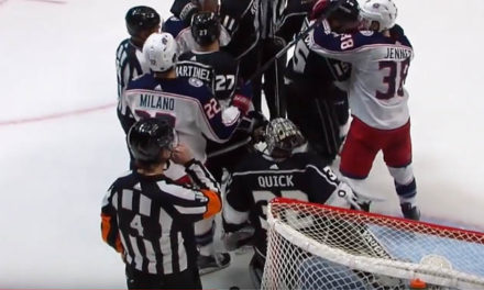 """Ref Wes McCauley Blows Whistle, Yells """"Whistle"""" To Reinforce Whistle"""