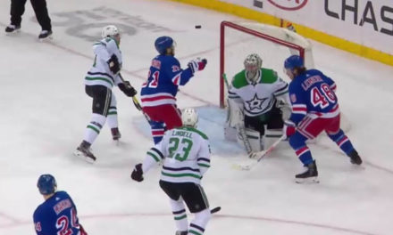 Replay Reveals Rangers Goal After Puck Batted Down – Not In