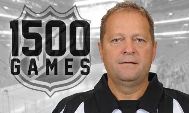 Referee Dan O'Halloran Hits 1,500 Games