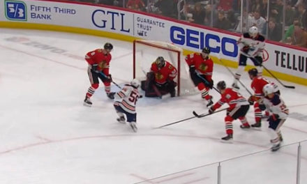 Oilers Awarded Goal After Review, Called for Too Many Men