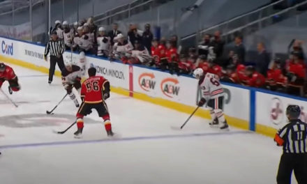 Flames' Gustafsson Penalized for Playing Without a Helmet
