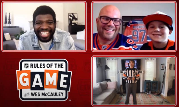 McCauley Quizzes Fan on Refs' Signals in Hat Trick Trivia