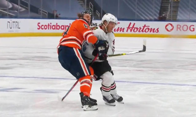Blackhawks' Caggiula Suspended for Game Two vs. Oilers