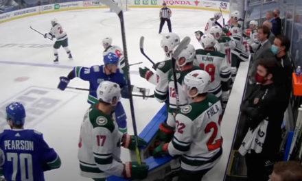 NHL Fines Canucks' Ferland, Wild's Kunin for Bench Exchange