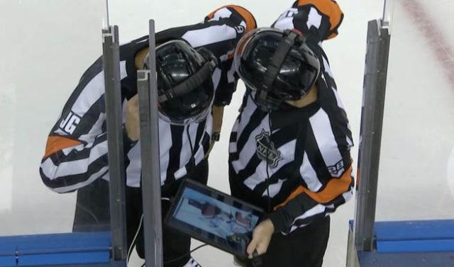 Carolina Hurricanes challenge Boston Bruins goal for missed hand pass