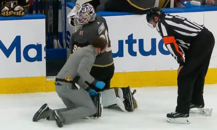 Golden Knights' Lehner Loses Skate Blade… Twice