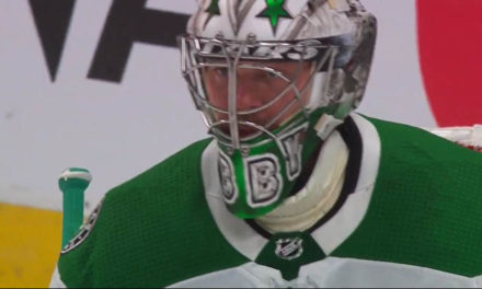Stars' Khudobin Busted For Illegal Stick Tape