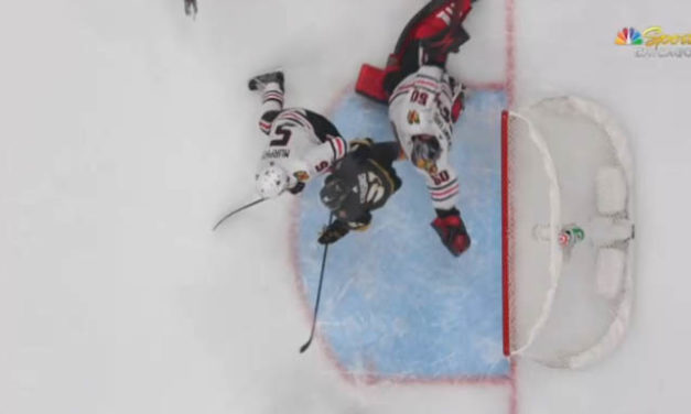 Golden Knights Goal Waved Off After Blackhawks Challenge for Goaltender Interference