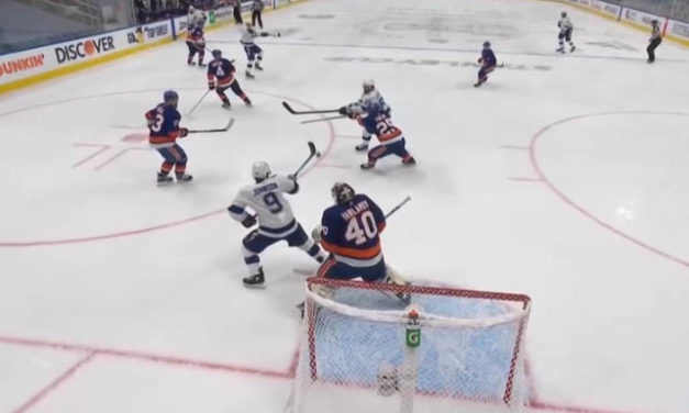 Review Confirms No High Stick on Goal by Lightning's Johnson