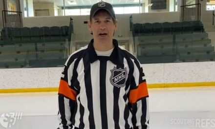 Ref Wes McCauley Preparing for Opening Night