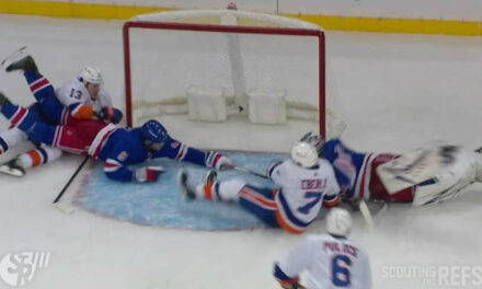 Isles Goal Wiped Out After Rangers' Challenge for Interference