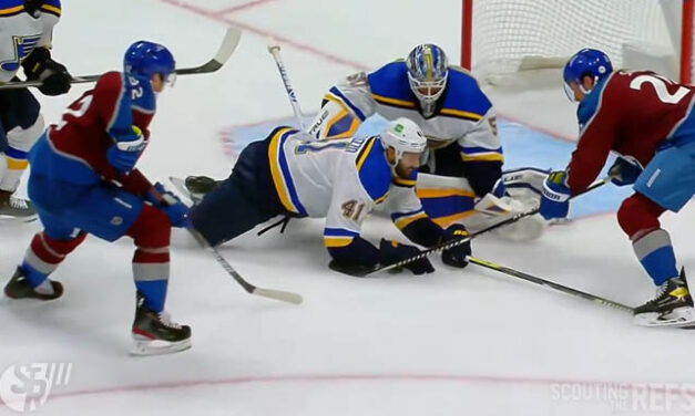 Blues' Bortuzzo Whistled for Closing Hand on Puck