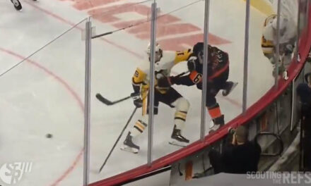Pens' McCann Awaits Hearing for Elbowing Flyers' Sanheim