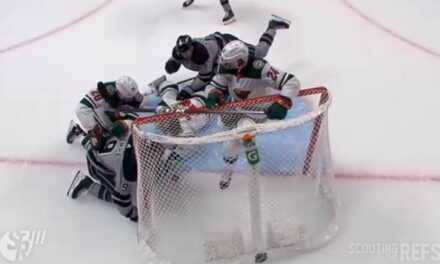 Kings' Dislodged Net Goal Upheld After Video Review