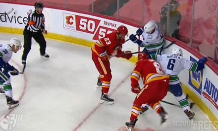 Canucks' Pettersson Fined for Slashing Flames' Monahan