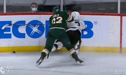 Wild's Fiala Suspended Three Games for Boarding