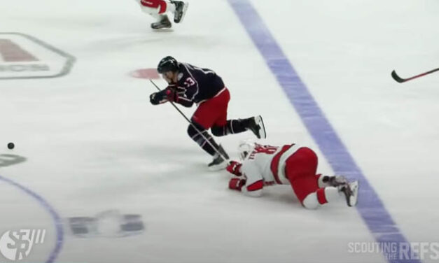 Jackets' Atkinson Scores on Penalty Shot Awarded in Neutral Zone