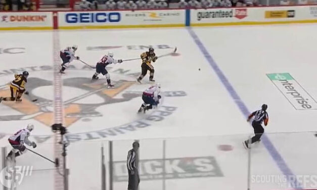 Pens' Crosby Awarded Goal After Empty Net Hook