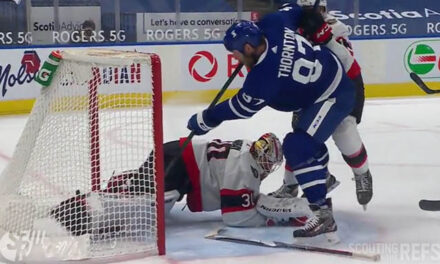 Leafs' Thornton Has Two Goals Waved Off vs. Sens