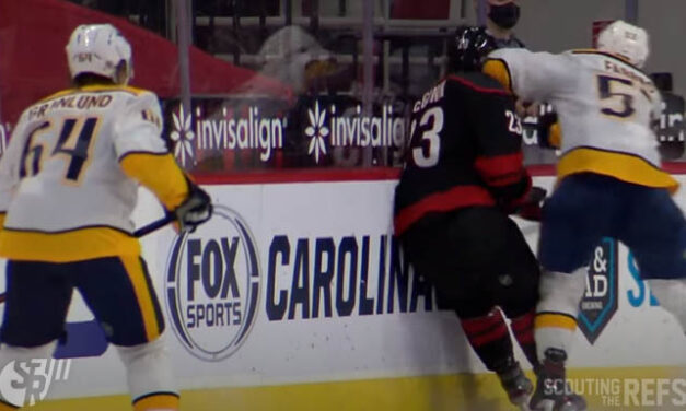 Preds' Fabbro Awaits Hearing for Elbowing Canes' McGinn