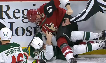 Wild's Soucy Faces Hearing for Hit; Coyotes' Crouse Retaliates