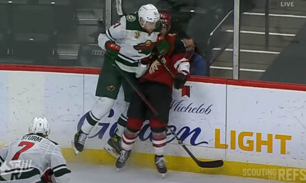 Wild's Soucy Suspended One Game for Charging