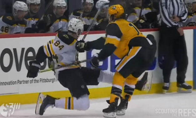 Pens' Tanev Tossed for Boarding Bruins' Tinordi