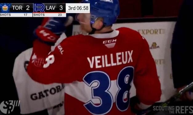 AHL's Veilleux Suspended for Obscene Gesture