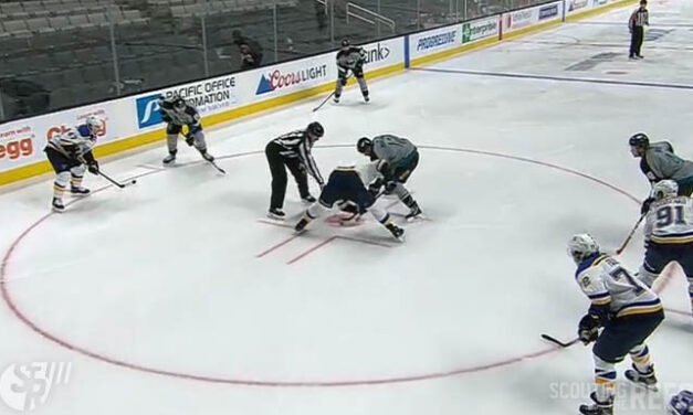 Sharks Frustrated After Faceoff Violation Leads to Loss