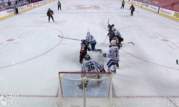 Flames' Mangiapane's High-Sticking Double-Minor Reviewed, Confirmed vs. Leafs