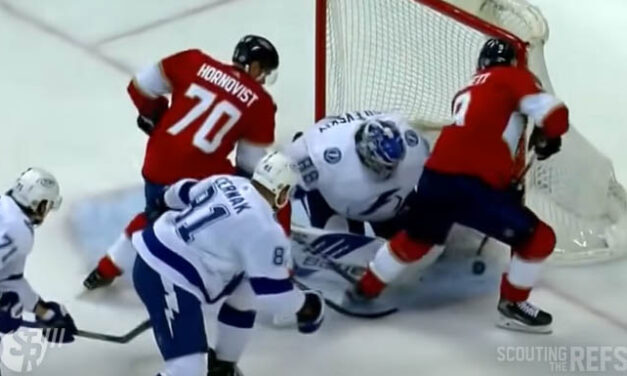 Panthers' Series Opening Goal Disallowed for Goaltender Interference