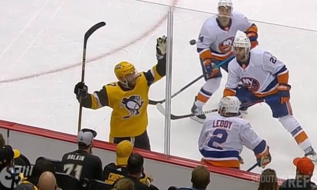 Penguins' Rust Penalized for Closing Hand on Puck