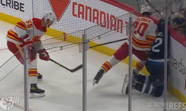 Flames' Coleman Suspended Two Games for Boarding