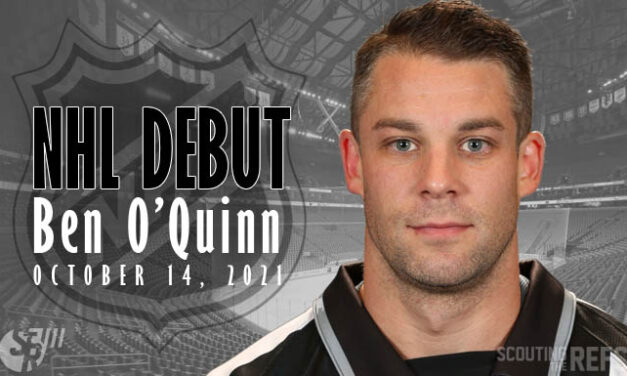 NHL Linesman Ben O'Quinn Debuts in Buffalo
