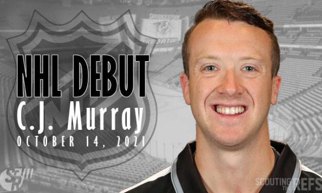 Linesman CJ Murray to Make NHL Debut in Nashville