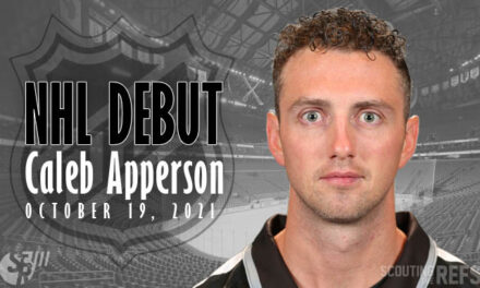 NHL Debut for Linesman Caleb Apperson