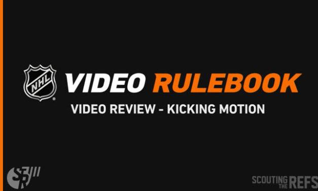 NHL Rulebook: Distinct Kicking Motion (37.4, 49.2, 78.5)